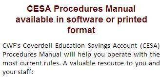 CESA Procedures Manual